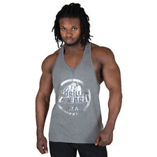 Gorilla Wear Mill Valley Débardeur Gris Stringer bodybuilder haut de forme