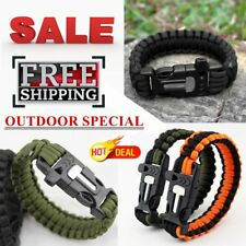 Survival SOS Bracelet with Fire Starter Design for Outdoor Camping Hiking FDS