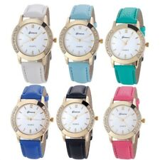 Fashion Women Watches Diamond Leather Stainless Steel Analog Quartz Wrist Watch