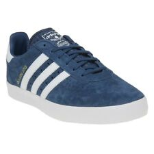 New Mens adidas Blue 350 Suede Trainers Retro Lace Up