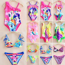 bambine CARTONE ANIMATO Estate Costume da bagno Bikini tankini (TOP + slip)