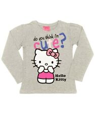 FILLES GRIS HELLO KITTY HAUT MANCHES LONGUES Do You Think I.