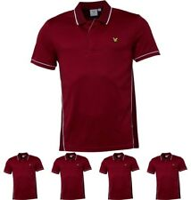 MODA Lyle And Scott Vintage Mens Skelton Piping Polo Light Claret Jug Small Che