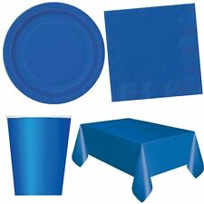 Royal Blue Birthday Party Tableware Catering Plates Cups Napkins