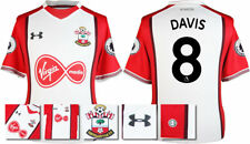 17 / 18- UNDER ARMOUR; SOUTHAMPTON HOME SHIRT SS + PATCHES / DAVIS 8 = ADULTS