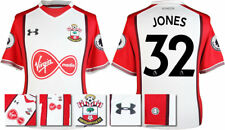 17 / 18- UNDER ARMOUR; SOUTHAMPTON HOME SHIRT SS + PATCHES / JONES 32 = ADULTS