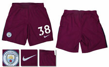 17 / 18 - NIKE ; MAN CITY AWAY SHORTS / NUMBERED 38 = ADULTS SIZE