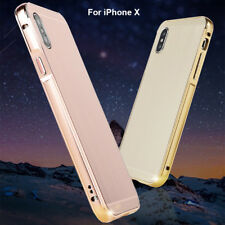 Ultra Thin Aluminum Metal Bumper Frame Hard Case Cover For iPhone X 6/S 7 8 Plus