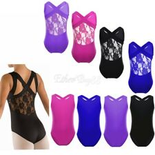 Girls Ballet Dance Tank Ballet Leotard Unitard Kids Stretch Gymnastics Costumes