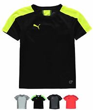 MODA Puma Evo Training T Shirt Junior Boys Grey/Yellow