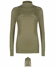 MODA Puma Evo Knit Long Sleeve Top Ladies Olive