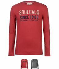 NEW SoulCal Large Logo 2 Long Sleeve T Shirt Mens Red
