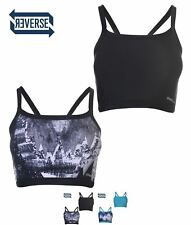NUOVO ONeill ONeill Active Reversible Sports Bra Ladies Black AOP