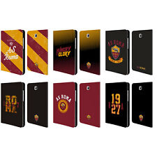 AS ROMA 2017/18 TIPOGRAFIA COVER PORTAFOGLIO IN PELLE PER SAMSUNG GALAXY TABLETS