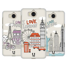 HEAD CASE DESIGNS DOODLE CITIES HARD BACK CASE FOR HUAWEI Y6 (2017) / NOVA YOUNG