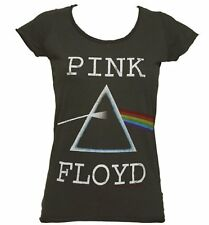 Official Women's Charcoal Pink Floyd Dark Side Of The Moon T-Shirt from Amplifie