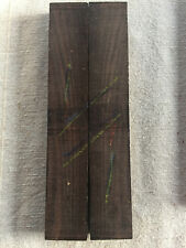 FSC 100% African blackwood bookmatched knife scales / knife handle 25mm width