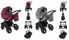 Qumes Flow Travel System Single Seat Stroller 2in1 to 4in1 with isofix base new