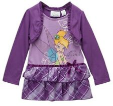 Toddler Girls Disney Dress Ruffle Party Clothes Long Sleeve Princess Tinkerbell