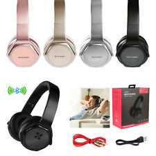 Foldable Bluetooth Headphones Headset Stereo Mic Bass Earphone NFC FM SD Speaker