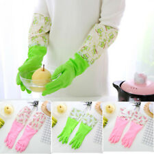 Kitchen Cleaning Rubber Waterproof Reusable Dish Washing Long Gloves  L0143