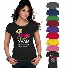 Miss New Year Any NameTop Printed TShirt Womens Short Sleeve Tee Dance Party Lot