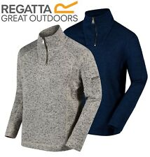 Regatta Mens Lorcan Marl Effect Fleece Pullover Half Zip Smart Top RRP £40