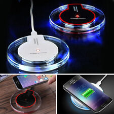 NEW Qi Wireless Fast Charger Charging Pad Dock Apple iPhone X 8 Samsung S8 ETC