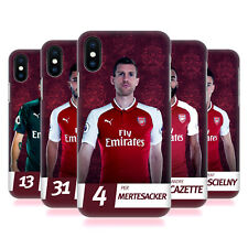 ARSENAL FC 2017/18 PRIMA SQUADRA GRUPPO 2 COVER RETRO PER APPLE iPHONE TELEFONI
