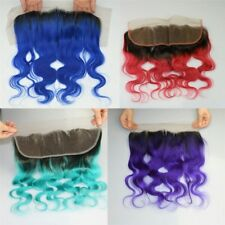 BRAZILIAN LACE FRONTAL CLOSURE 13X4 BODYWAVE STRAIGHT ALL OMBRE FRONTAL FASTSHIP