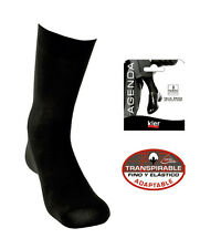 KLER 6250 - calcetin ejecutivo pack 2 pares algodon lycra negro traspirable