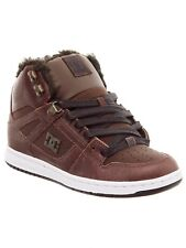 DC Brown-Chocolate Rebound - Winterized Sherpa Lined Womens Hi Top Shoe