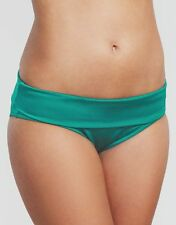 Ladies Fortune Rio Fold Waist Bikini Brief Figelaves Emerald Green V Sizes NEW