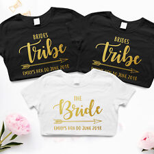The Bride Tribe Personalised Hen Do Party T-Shirts Womens Wedding Boho Cute L173