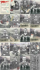 WALES RUGBY - WELSH TEAM (v New Zealand) 1905 at CARDIFF PLAYER POSTCARDS