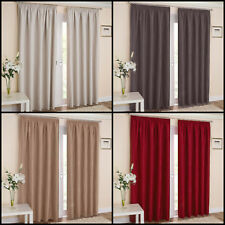Thermal Blockout 3 Pass Pair Of Pencil Pleat Curtains With Modern Wave Design