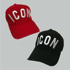 Dsquared ICON Black/Red Snapback Baseball Cap ONE SIZE  Men and women Unisex