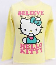 filles Hello Kitty jaune Believe in yourself T-shirt manches longues style