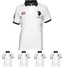 FASHION U.S. POLO ASSN. Mens Rider Polo Bright White Small Chest 36-38""