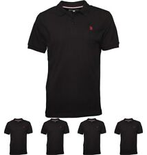 FASHION U.S. POLO ASSN. Mens King Polo Black Small Chest 36-38""