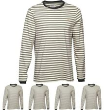 FASHION Farah Vintage Mens Ally Stripe Long Sleeve T-Shirt Palm Small Chest 35-