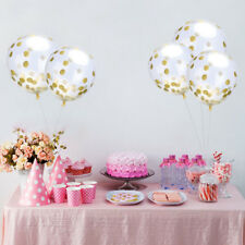 "10pcs 12"" Confetti Latex Balloons Confetti Helium Birthday Wedding Hen Party RLT"