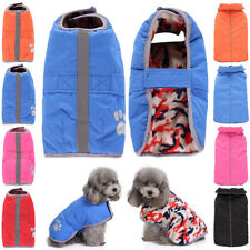 Dog Coat Jacket Pet Reflective Clothes Winter Apparel Puppy Reversible Costume