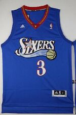 Allen Iverson Philadelphia 76ers #3 Throwback Jersey Sz S - 2XL All Stitched NEW