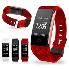 Heart Rate +Sports Activity Sleep Tracker Fitness Pedometer Bracelet Smart Watch
