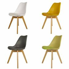 Jamie Tulip Eiffel Inspired Modern Padded Dining Office Lounge Chair Set of 4
