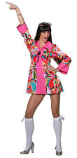 Groovy POWER Hippie Costume NUOVO - donna Carnevale Travestimento Costume