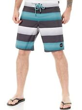 Oneill Black Aop Santa Cruz Stripe Boardshorts