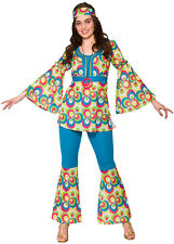 FUNKY Stacy Hippie Costume NUOVO - donna Carnevale Travestimento Costume