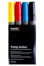 Ironlak Pump Action Paint Marker Set [3mm Bullet Tip]